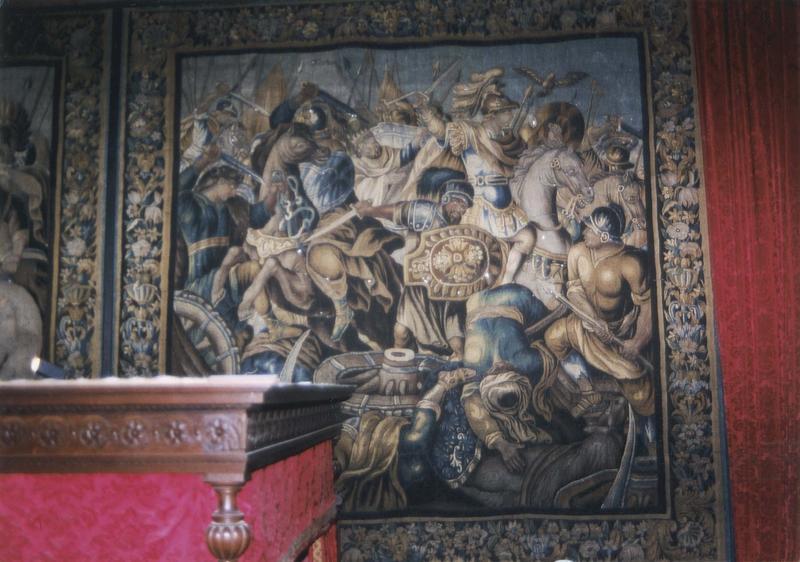 Pièce murale de la tenture des batailles d'Alexandre : La Bataille d'Arbelles