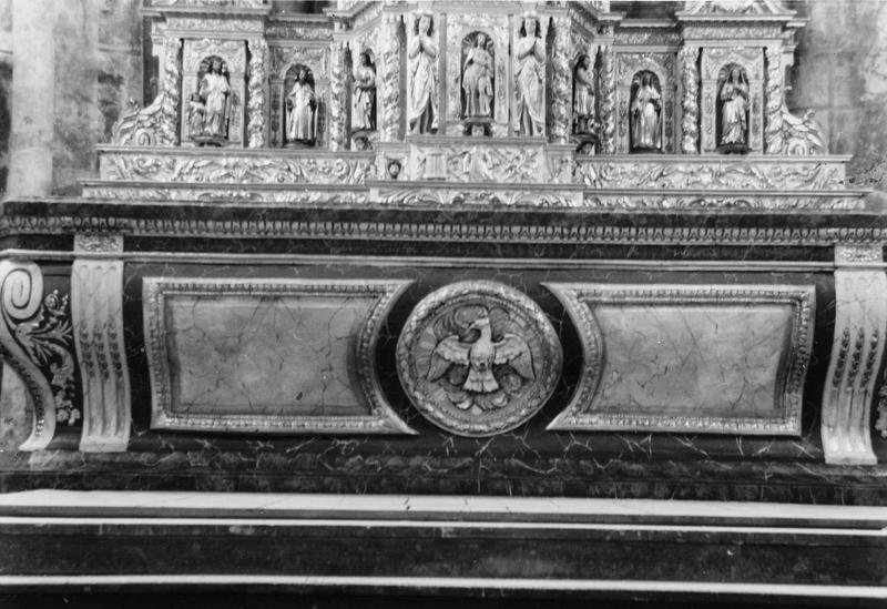 Retable, tabernacle, vue partielle