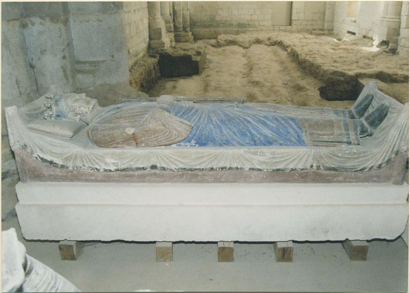 Statue funéraire d'Henri II Plantagenêt, roi d'Angleterre, mort en 1189, vue générale