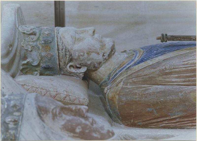 statue funéraire d'Henri II Plantagenêt, roi d'Angleterre, mort en 1189