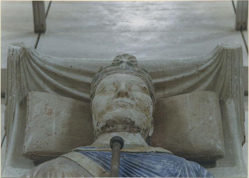 Statue funéraire d'Henri II Plantagenêt, roi d'Angleterre, mort en 1189, détail