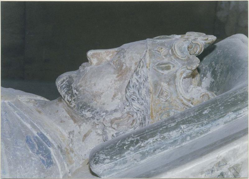 Statue funéraire de Richard 1er dit Coeur de Lion, roi d'Angleterre, détail