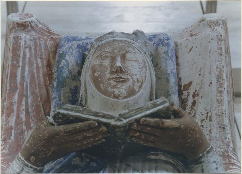 Statue funéraire d'Aliénor d'Aquitaine, femme d'Henri II Plantagenêt, détail