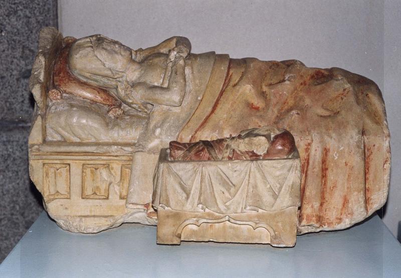 haut-relief : La Nativité de la Vierge
