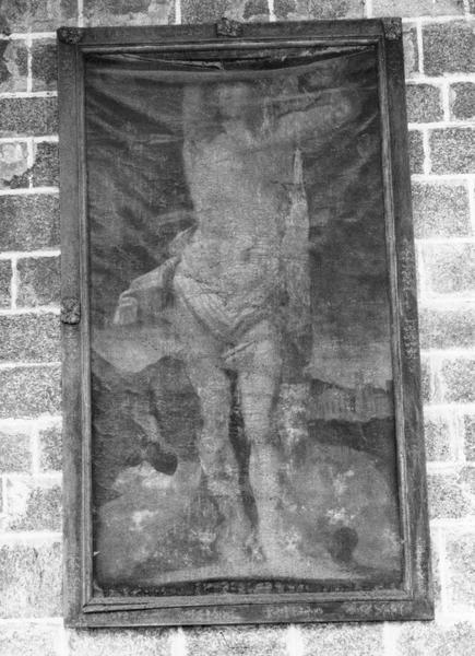 tableau : Saint Sébastien, cadre, vue générale