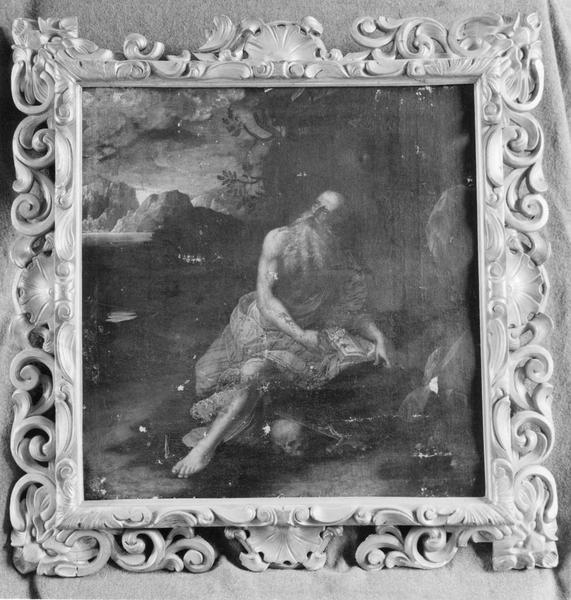 Tableau : Saint Jérôme, et son cadre