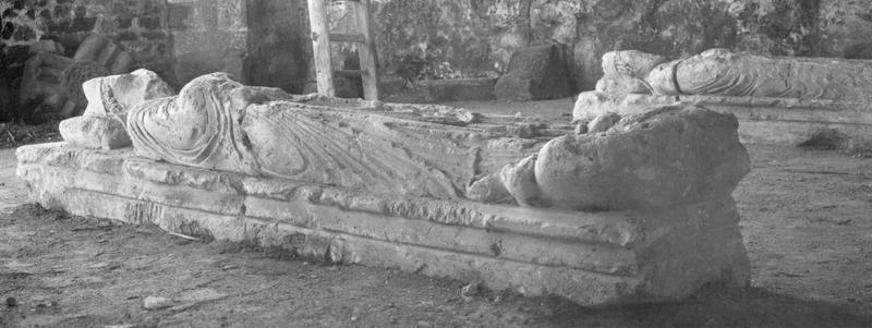 Statue (gisant) : Le Bienheureux Achard