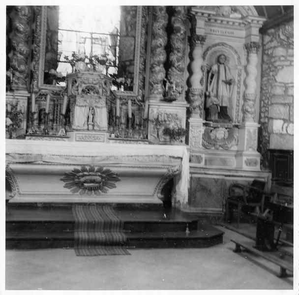 maître-autel, vue partielle