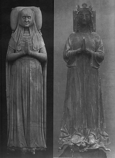 Moulages - Tombeaux de Catherine de Courtenay et de Blanche de France, fille de Charles IV : Gisants