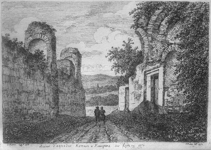 Gravure : Vue des ruines