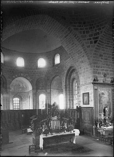 2 autels, gradin d'autel, tabernacle, exposition, 2 bras de lumière (maître-autel double face)