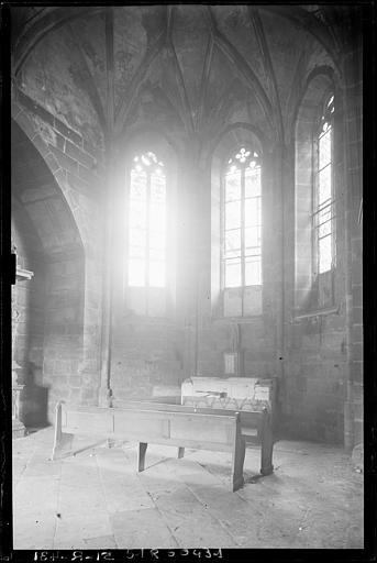 Abside de la chapelle : intérieur vers l'est