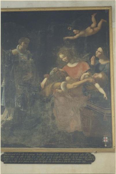 Tableau : Vierge à l'Enfant et divers personnages (La), vue générale