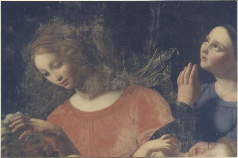 Tableau : Vierge à l'Enfant et divers personnages (La), détail