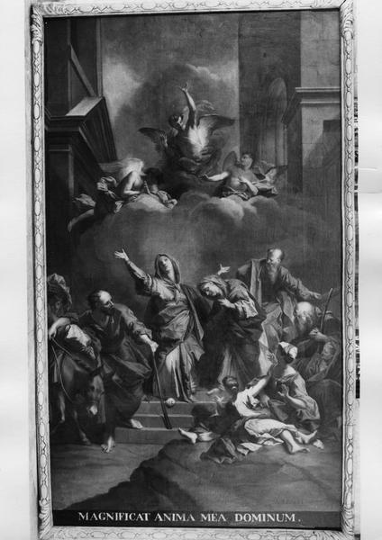 2 tableaux : l'Annonciation, le Magnificat
