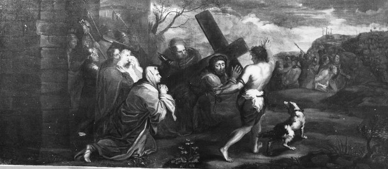 Tableau, cadre : le Portement de croix