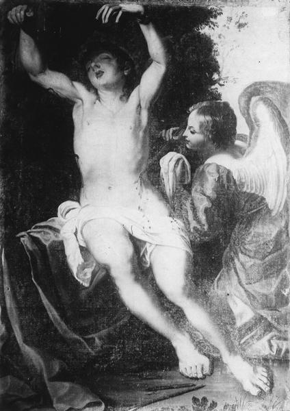 Tableau : Saint Sébastien pansé par l'ange