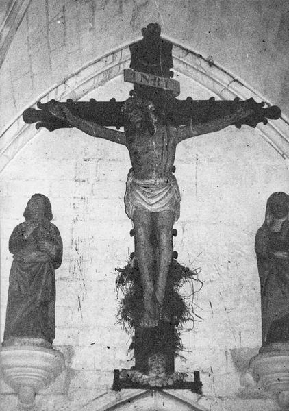 Calvaire : Christ en croix entre la Vierge et saint Jean (Le)
