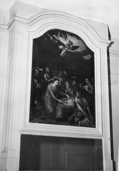Lambris de revêtement, placard, tableau de trumeau : la Nativité