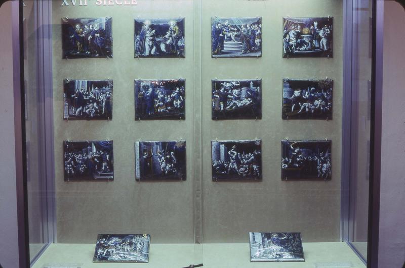 plaques décoratives (30) : Scènes de la vie de saint Remy et de saint Thimothée