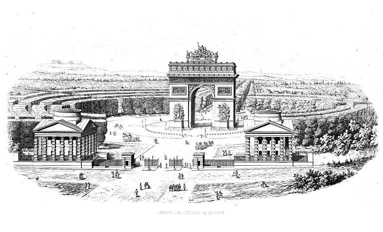 Projet de l'arc et aménagement de la place