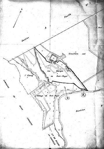 Plan de section A dite de Port-Royal, deuxième feuille 1936, cadastre