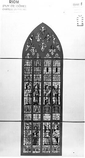 Photomontage de vitrail : baie F, Jugement dernier, prophètes, donateurs
