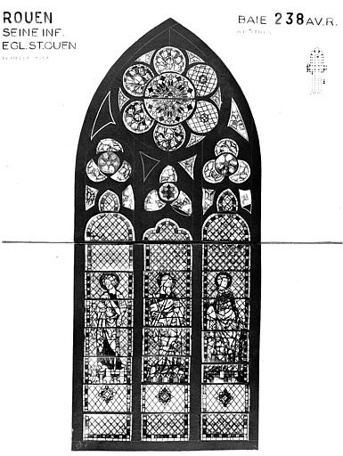 Photomontage de vitrail : baie 238, apôtres, état avant restauration