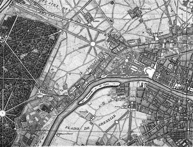Plan du quartier de l'Etoile