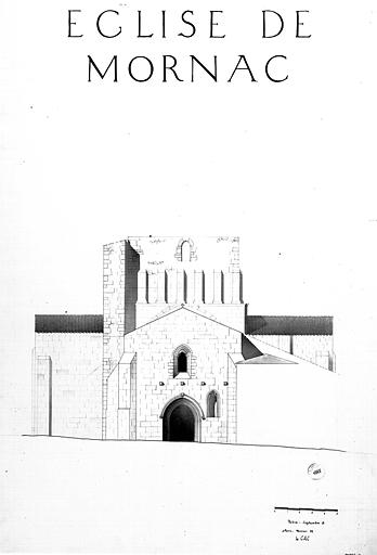 Plan, élévation de la façade du croisillon sud