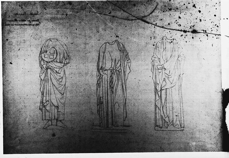 Dessin : trois apôtres