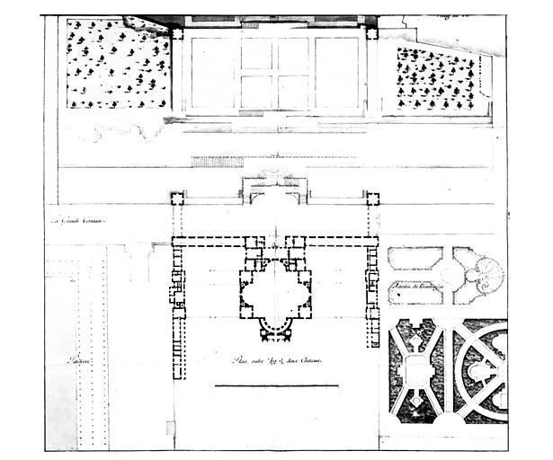 Plan du château Neuf et de ses dépendances, première partie