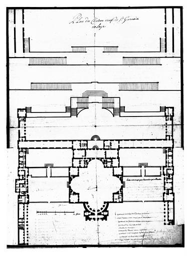 Plan du château Neuf de Saint-Germain-en-Laye, sans retombes