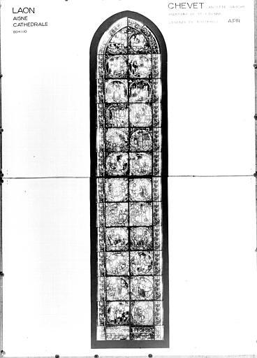 Photomontage de vitrail : lancette est, côté nord