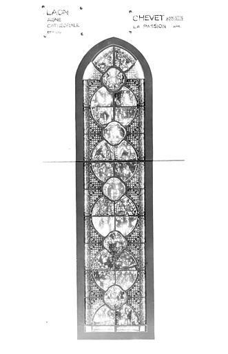 Photomontage de vitrail : lancette est, centre