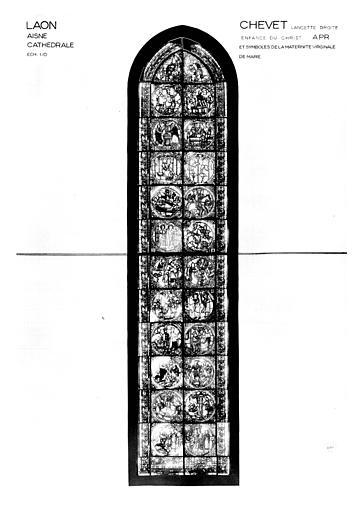 Photomontage de vitrail : lancette est, côté sud