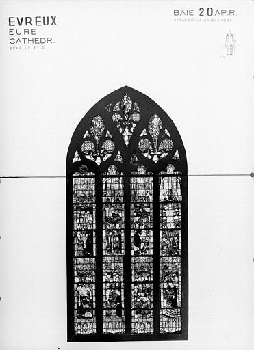 Photomontage de vitrail : baie 20, état après restauration