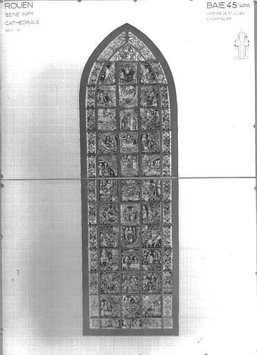 Photomontage de vitrail : baie 45, Légende de saint Julien l'hospitalier