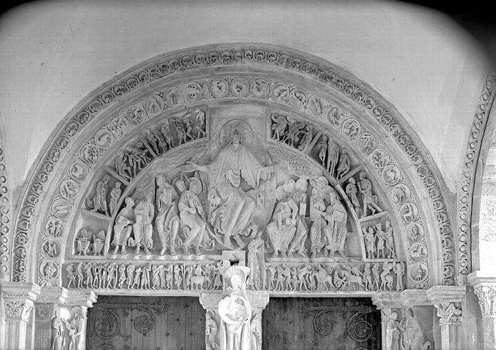 Narthex, portail central : ensemble de la partie supérieure