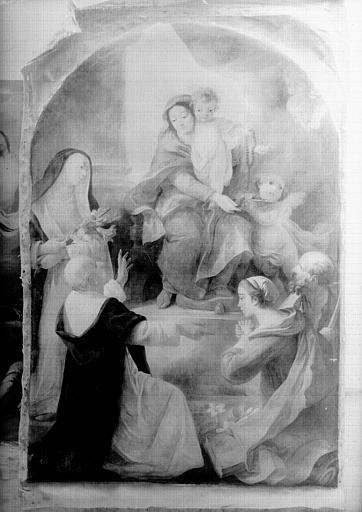 Peinture sur toile : Vierge du Rosaire
