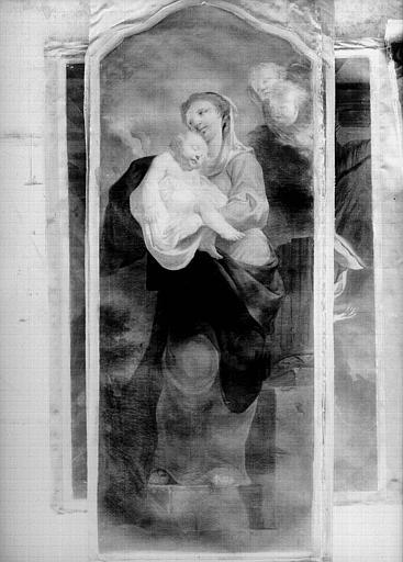 Peinture sur toile : Vierge à l'Enfant