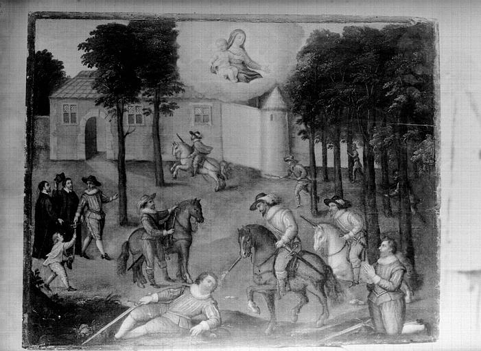 Panneau peint : Christ adolescent