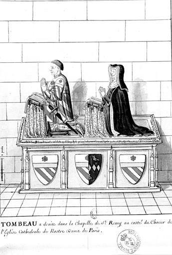 2 statues (priants) de Jean Juvenal des Ursins, prévôt des marchands de Paris, et de son épouse, Michelle de Vitry