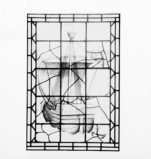 Vitrail : Nef de Jacques Coeur