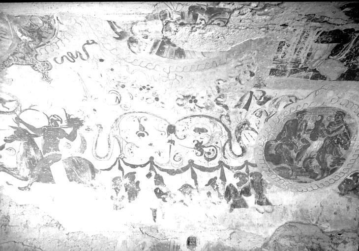 Etable, peintures de la voûte : scènes de batailles, deuxième partie