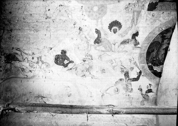 Etable, peintures de la voûte : scènes de batailles, quatrième partie