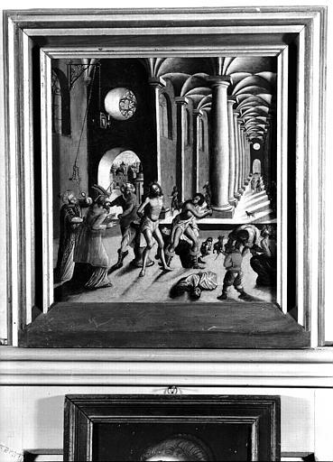Panneau peint situé dans la Grande Galerie du premier étage : la Flagellation