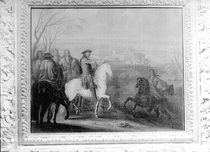 Peinture sur toile située dans la Grande Galerie du premier étage : Louis XIV au siège de (ville non identifiée)