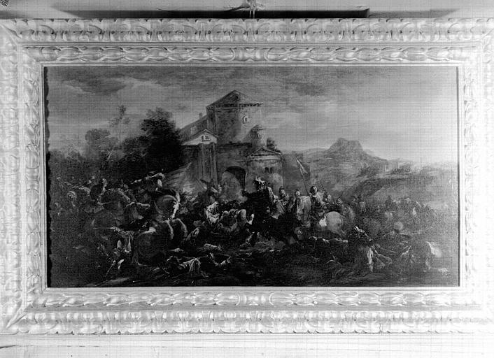 Peinture sur toile située dans la Grande Galerie du premier étage : Scène de bataille