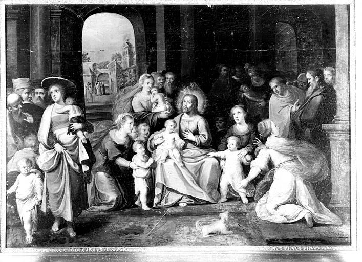 Peinture sur toile située dans la Grande Galerie du premier étage : Présentation des enfants à Jésus